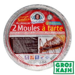 LOT DE 2 Moules Special Tarte Alu MEME HELENE 27,5 kosher