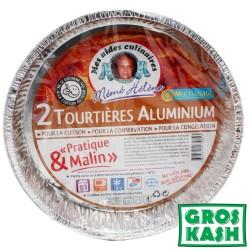 2 Tourtieres Aluminium kosher