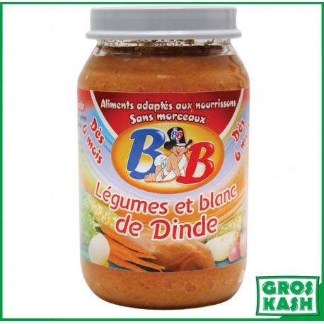 Petits Pots Bébé Legumes et Blanc de Dinde sans morceaux 200gr kosher lepessah RAV WOLFF