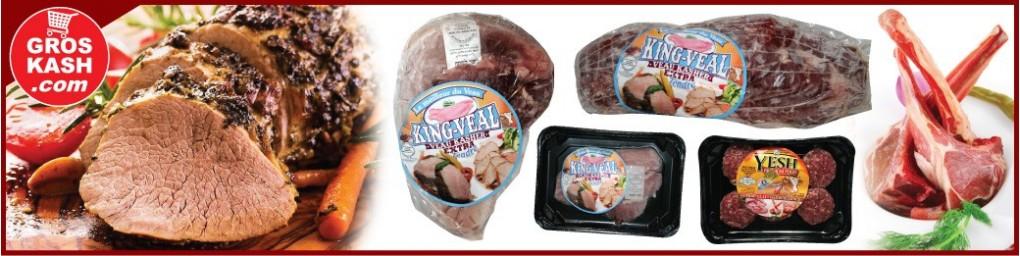Viande de veau glatt cacher, livrée à domicile dans toute la France | Groskash