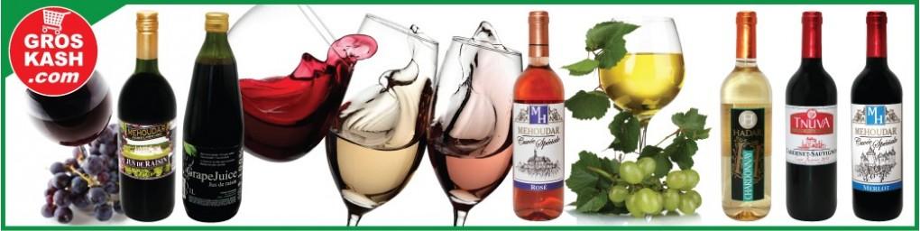 Commandez votre vin et jus de raisin cacher , livré en 24-48h chez vous | Groskash