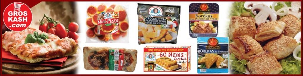 Pizza & Apéritif surgelé cacher, livré à domicile dans toute la France | Groskash